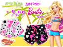 SHORTINHO MINNIE E BARBIE INFANTIL