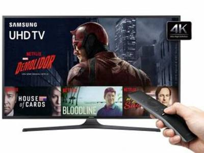 Foto Smart TV LED 55 Samsung 4K/Ultra 55KU6000 - Conversor Digital Wi-Fi HDMI USB Bivolt - 55 2
